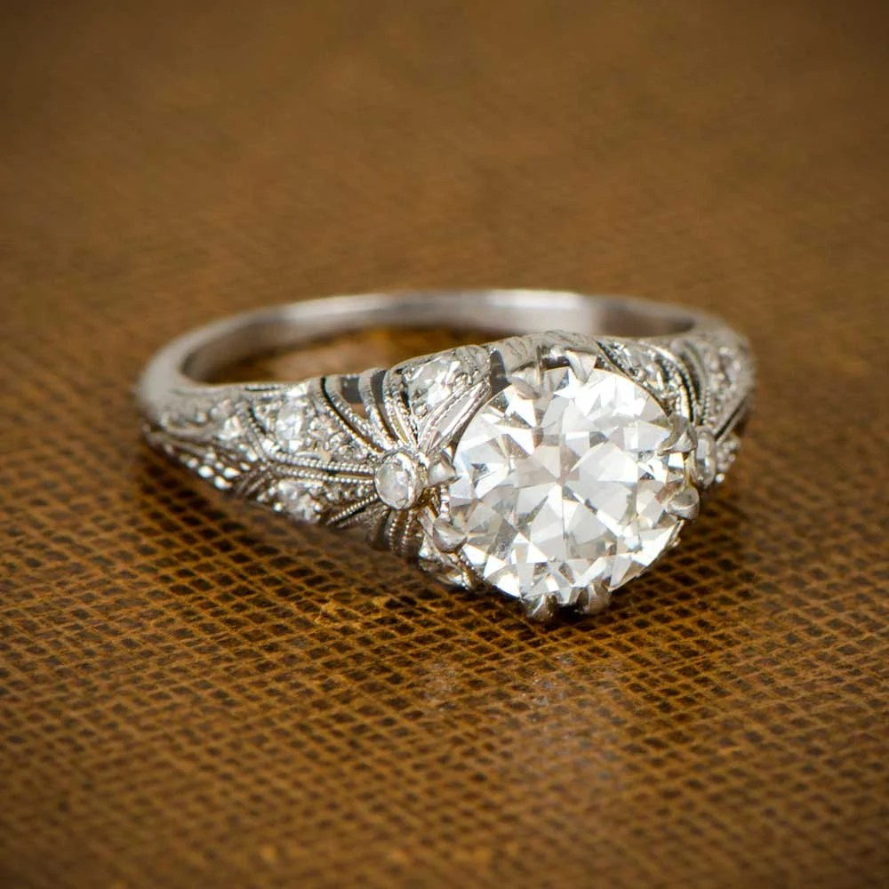 Edwardian Engagement Ring Circa 1910