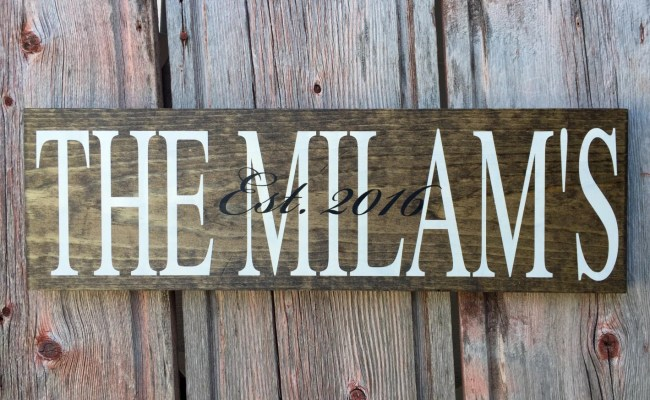 Personalized Last Name Sign Signs Home Wall Decor Home