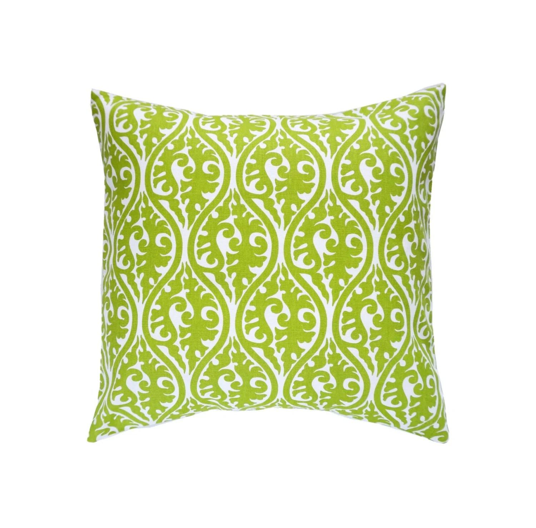 Green Pillow CoversGreen Scrolls PillowsCushionsThrow