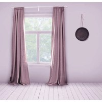 Linen Curtains Lined Dusty Pink Made to Measure Curtains