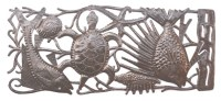 Sea Life and Beach Decor - Art Under The Tree Haiti Metal Art