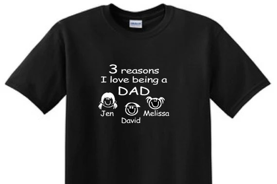 Download 3 Reasons i LOVE Being A DAD Fathers day gift T-shirt