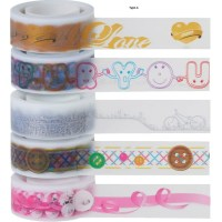 Decorative Tape Scrapbooking Tape Set of 5 By 3M by JapanPop