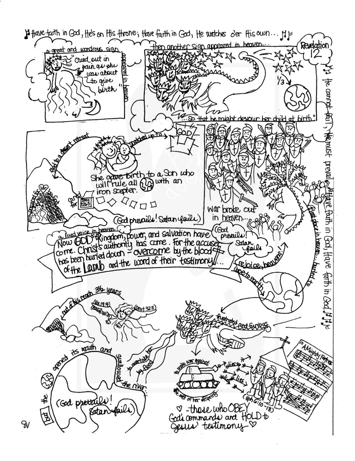 Bible Doodle Study Guide for Revelation 13 The Beast From the