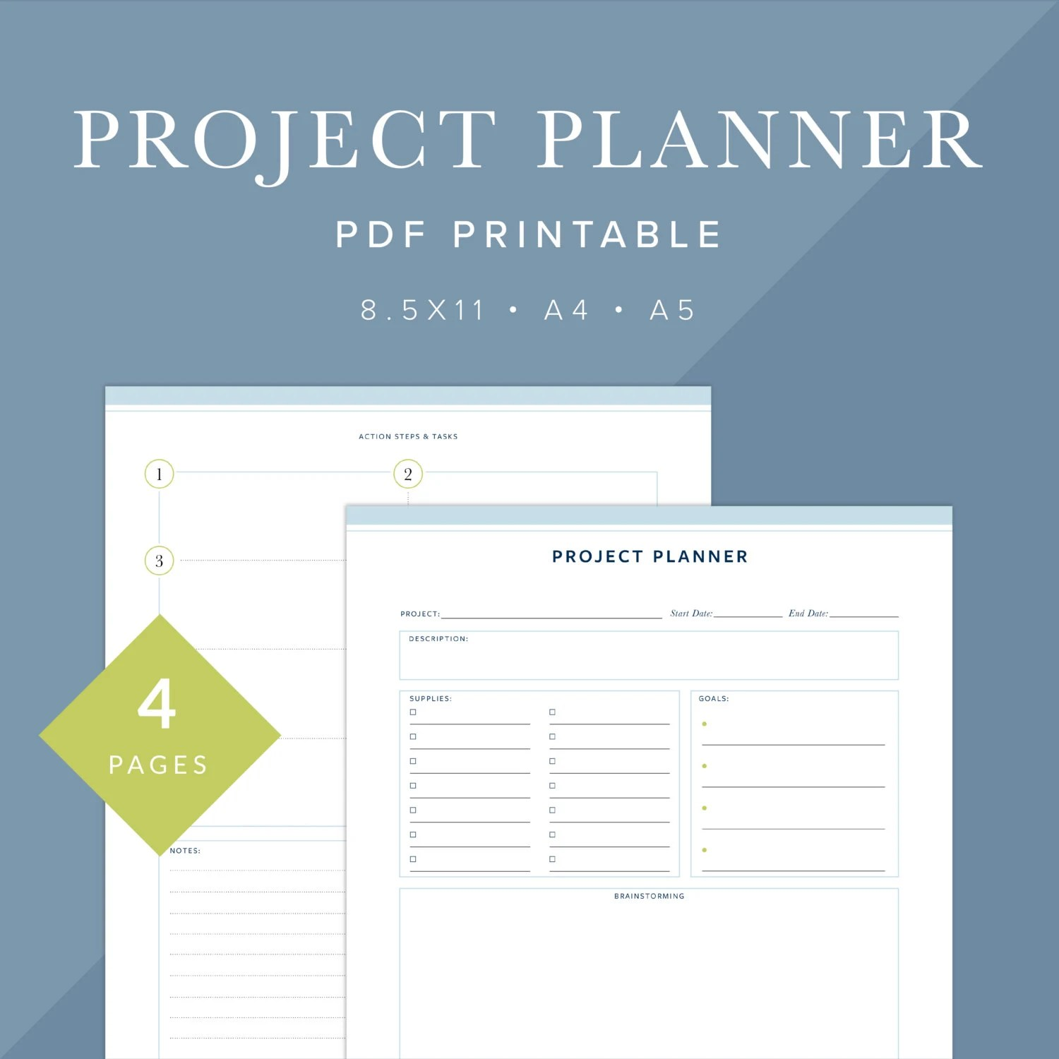 Project Planner Printable Instant Download Printable