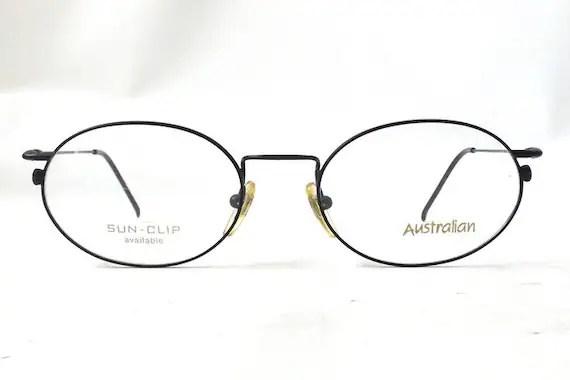 vintage 1990's australian eyeglasses italy italian black