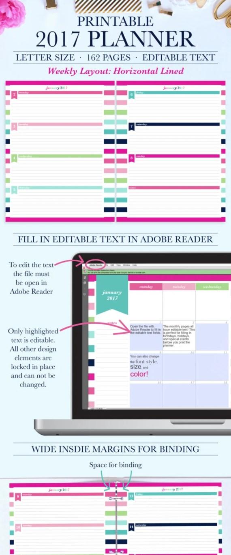 2017 Planner Weekly, 2017 Weekly Planner, 2017 Planner Printable, Personalized Planner 2017, Daily Planner 2017, Day Planner 2017