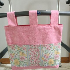 Chair Bags For School Pattern Footrests Wheelchairs Walker Bag Tote Carry All Caddy Bed Rail