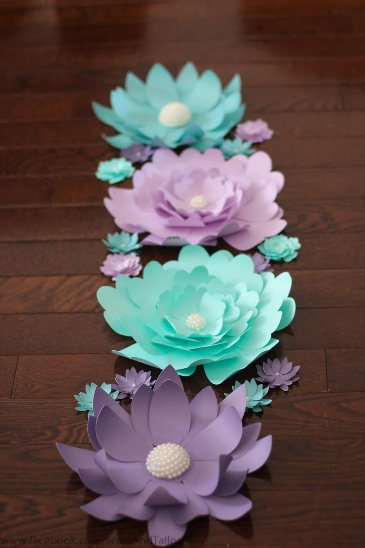 Flores de papel gigantes Flores de papel Flores de papel