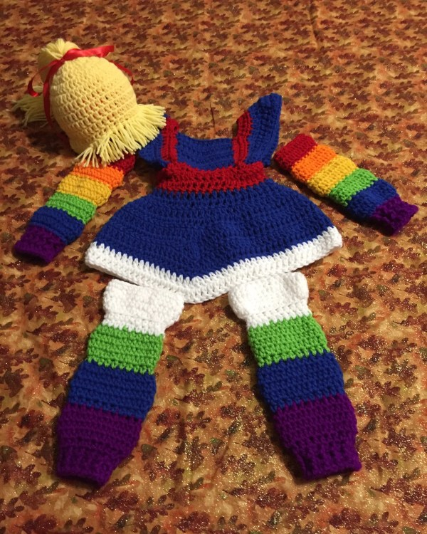 Crochet Rainbow Brite Halloween Costume Cosplay