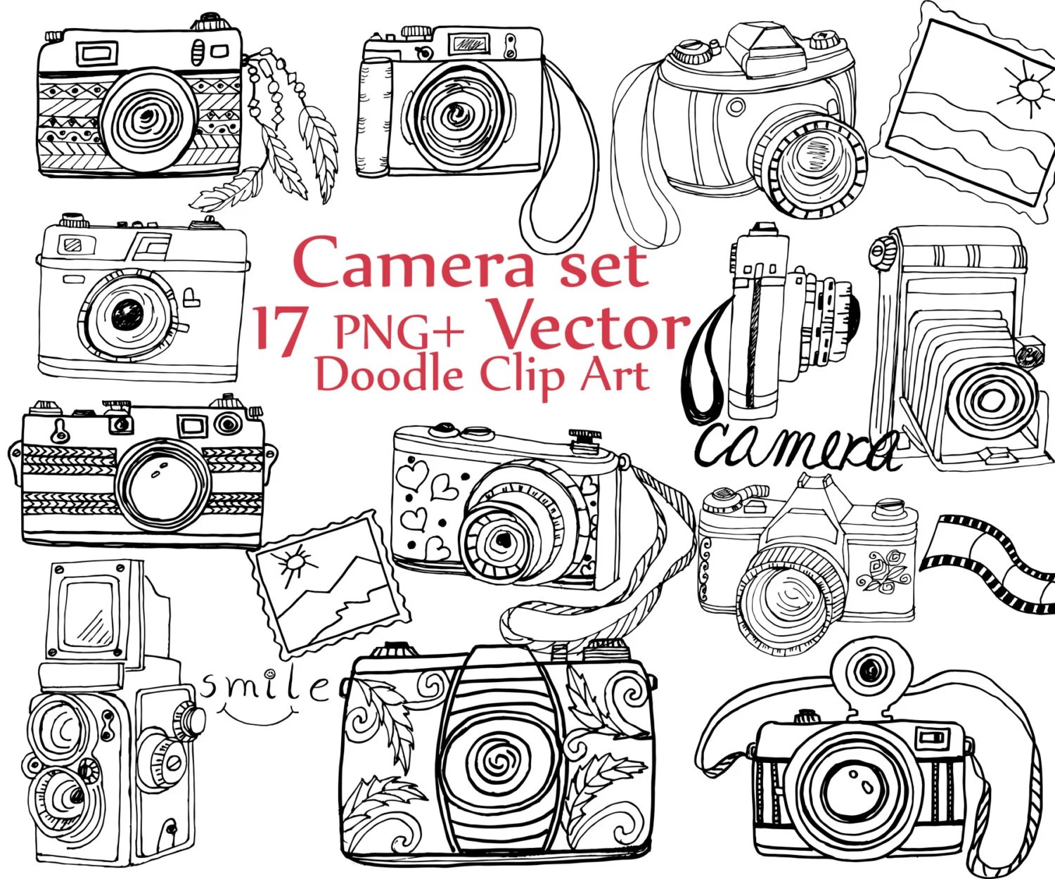 Photography Clipart Camera Sketch