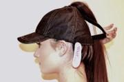 black denim baseball cap