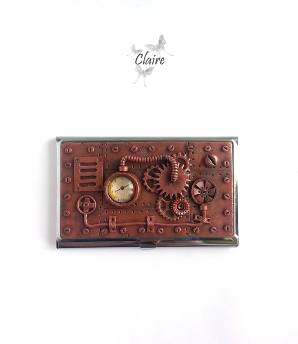 Steampunk Business Card Holder. Jewelryclaire