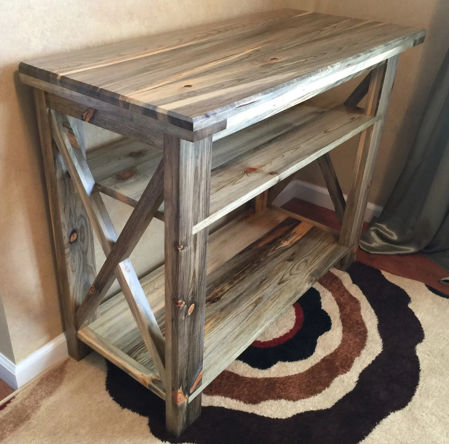 build a rustic sofa table sleeping beds industrial entryway console foyer