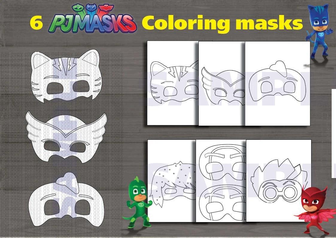 Instand Dl Pj Masks Printable Coloring Masks Digital File
