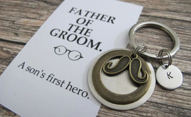 Father Of The Groom Gift Personalized Keychain A Son S