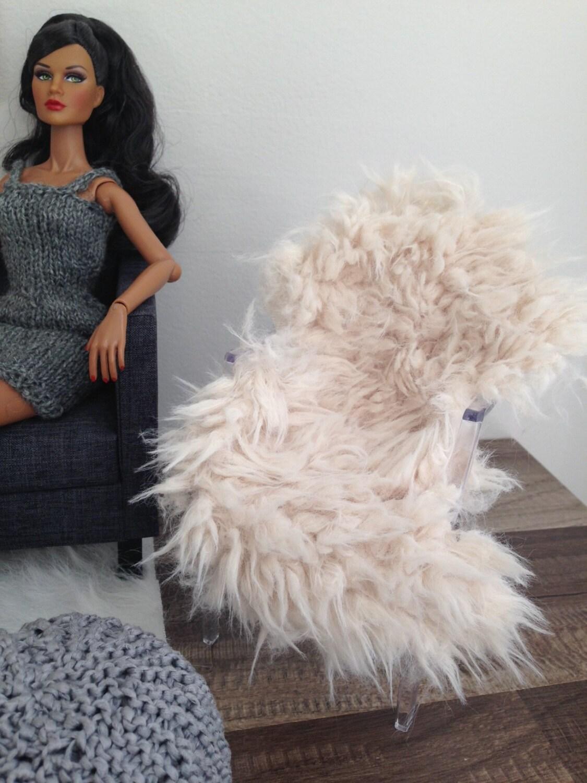 faux fur chair cover gerrit rietveld luxurious cream or sofa throw by