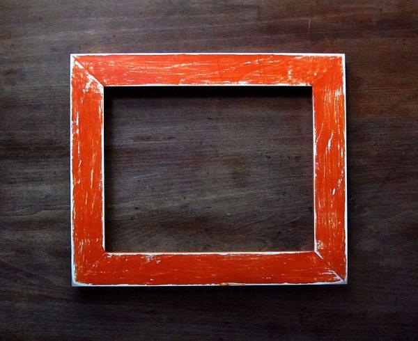 Distressed Orange Frame 8x10 Brushandpixel