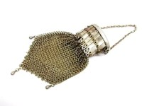 Antique Chainmail Gate Top Coin Purse Metal Mesh Dance Purse