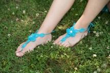 Crochet Barefoot Sandals Beach Wedding