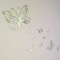 Set of 10 Butterfly Mirrors Butterflies by CrabShackDesign