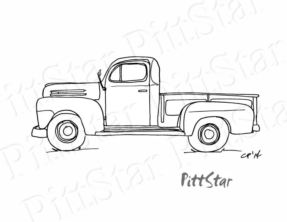 Instant Download Vintage 1940's Pickup Truck Printable