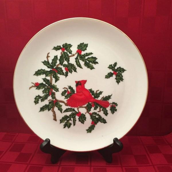 Vintage Lefton China Cardinal Plate 8 1 4