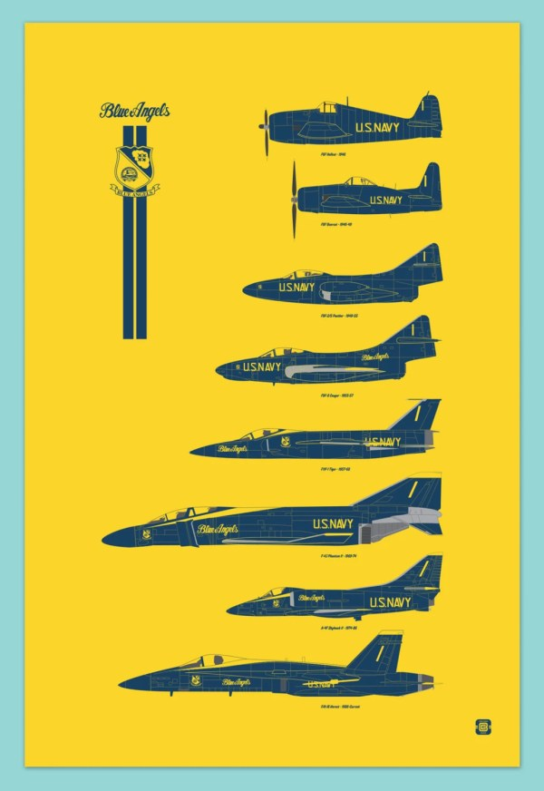 Blue Angels Chronology Poster Digital Print