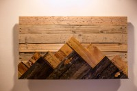 Items similar to Wooden Mountain Range Wall Art on Etsy