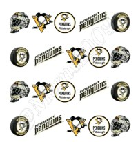 Pittsburgh Penguins Nail Art decals water decals Hockey by ...