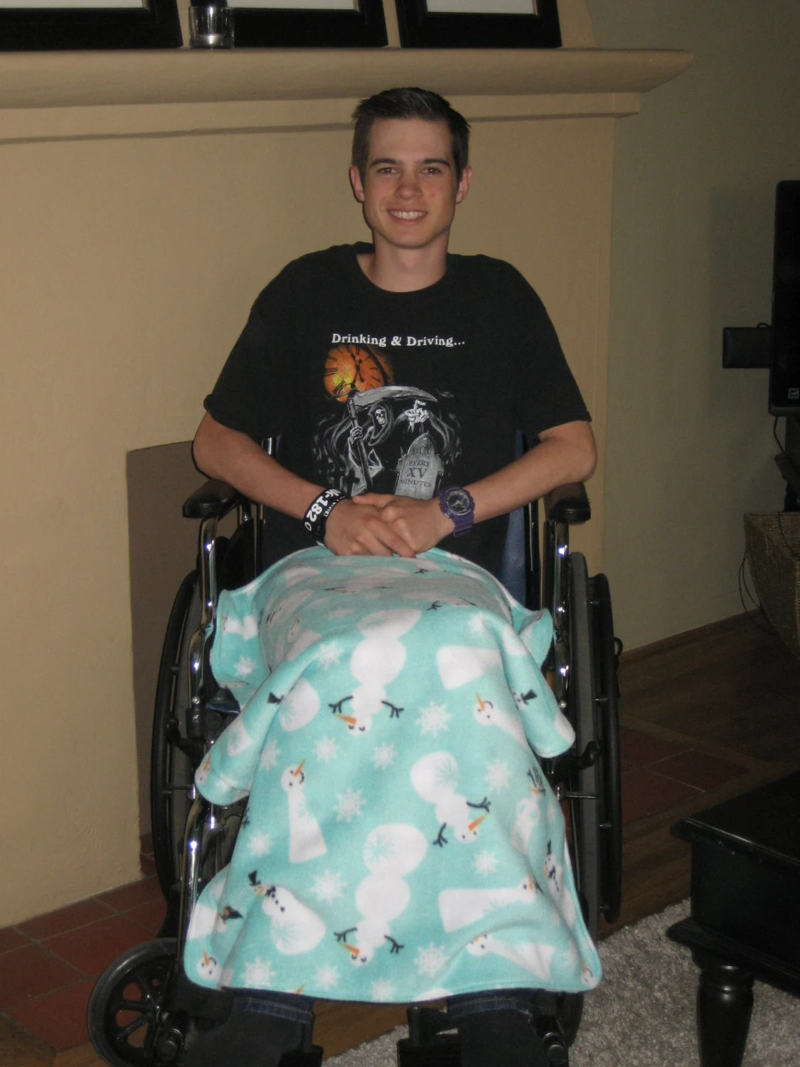 wheelchair blanket green glider chair lap game throw by tammysaprons