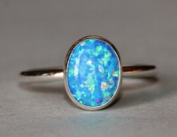 NEW Dark Blue Opal RingSterling Silver Bezel by ...