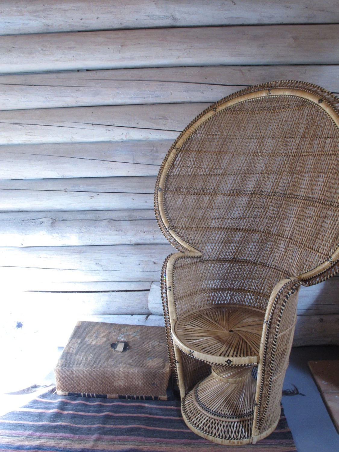 vintage peacock chair dining chairs uk boho accent princess fan