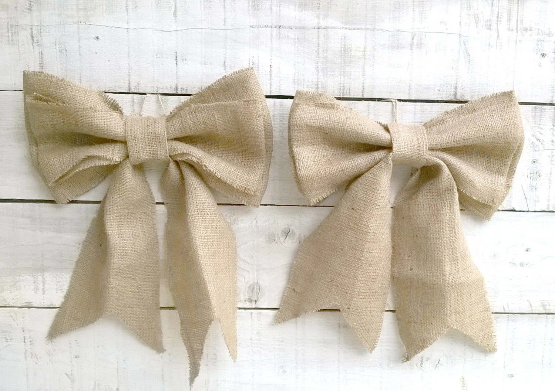 burlap bows for wedding chairs nailhead arm chair aisle marker pew end