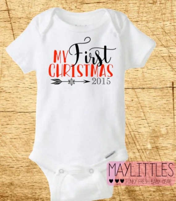 My First Christmas Onesie 1st Christmas Baby by MayLittles