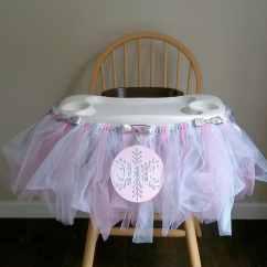 High Chairs For Girls Ergonomic Chair Work First Birthday Highchair Tutu Winter Onederland