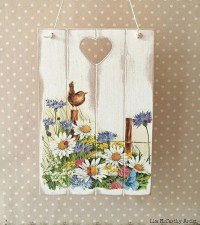 Decoupage Wall Plaque Shabby Rustic Plaque Chic Victorian