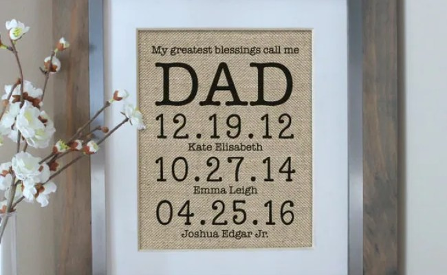 Personalized Gift For Dad Father S Day Gift By Emmaandthebean