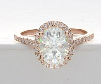 2 Carat Oval Engagement Ring Rose Gold Engagement Ring Oval