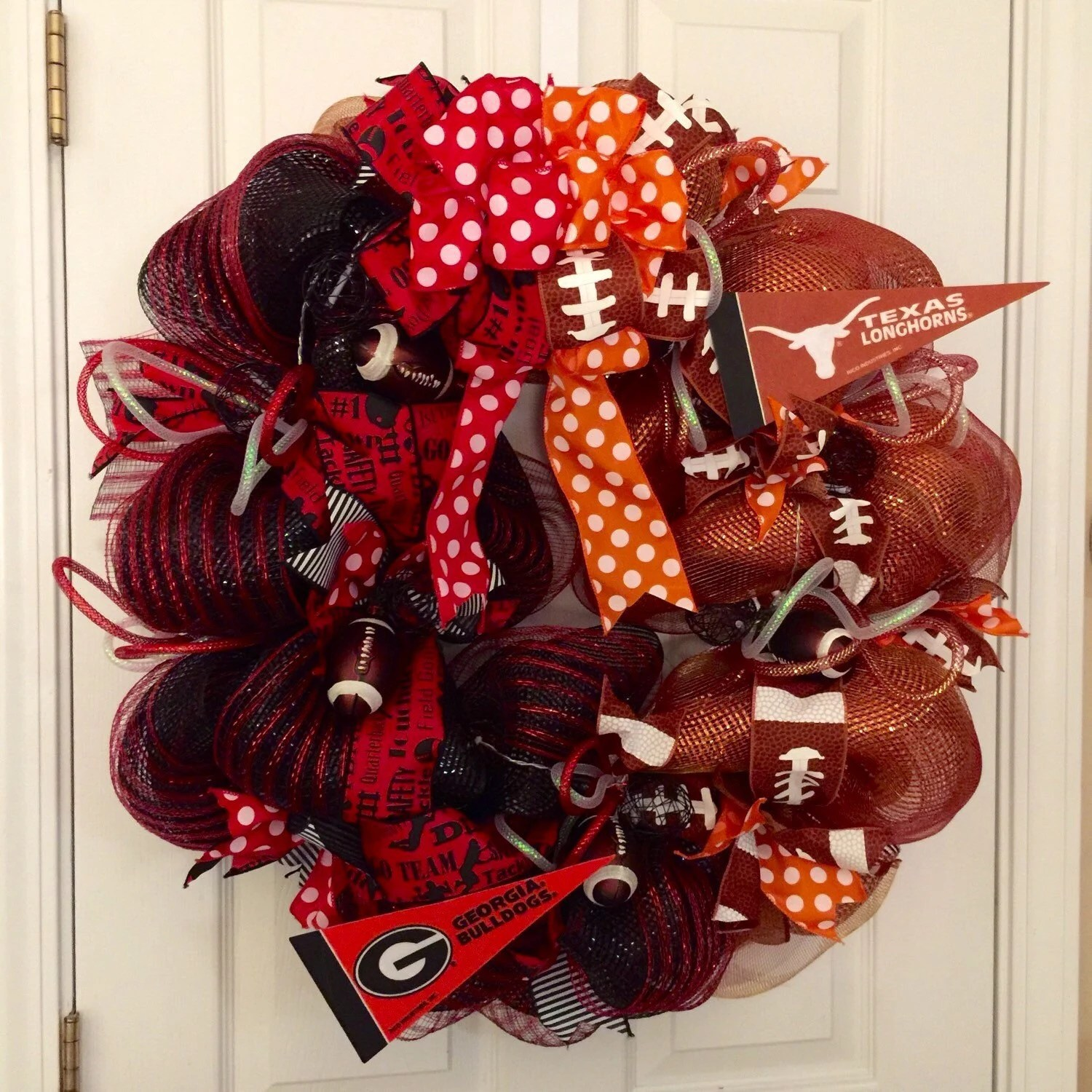 House Divided Wreath Two Teams Wreath College by