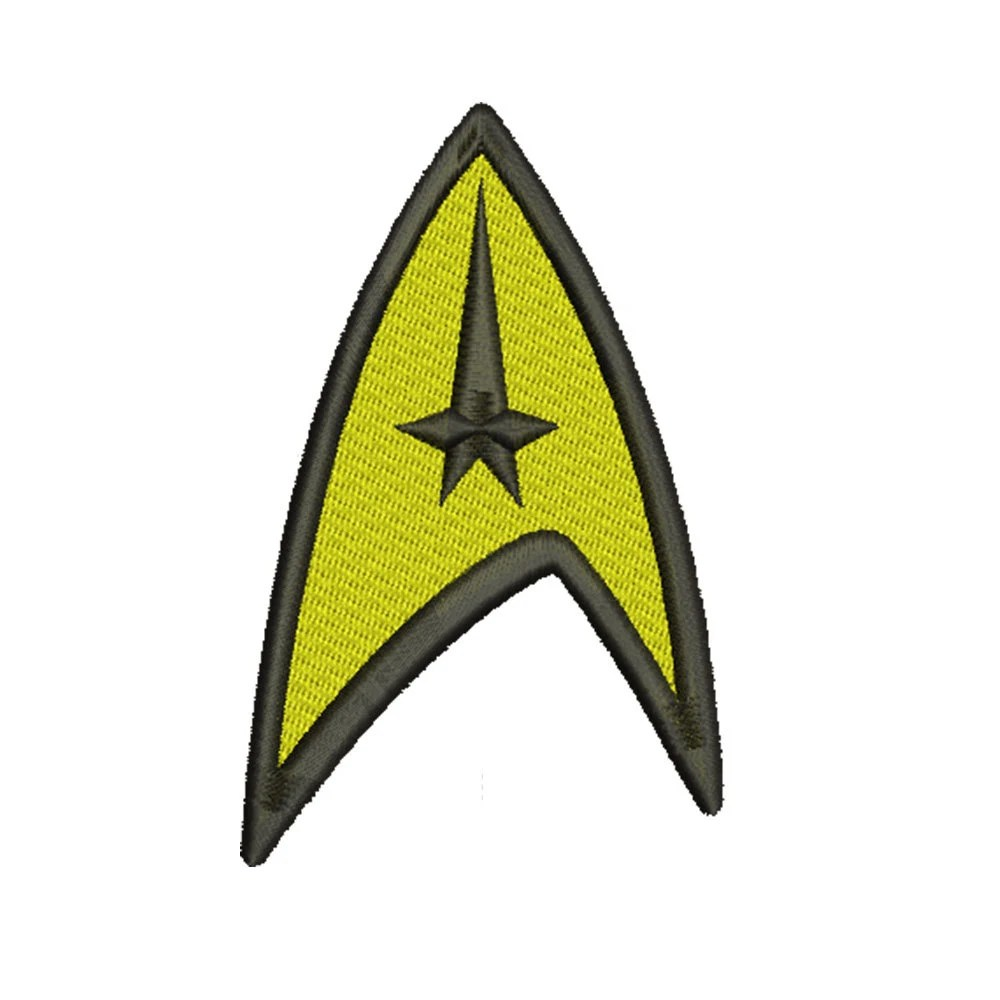 new Star Trek Klingon Bat'leth Embroidered Patch Collectibles