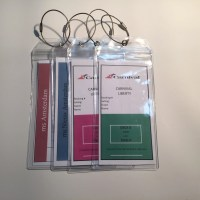 Premium Cruise Luggage Tag Holders Set of 4