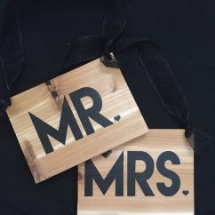 Mr And Mrs Chair Signs High Heel Shoe Furniture Wedding