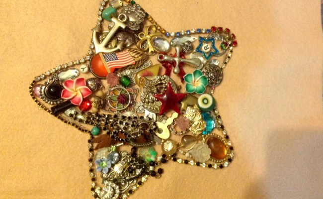 Handcrafted Vintage Jewelry Wall Art Star