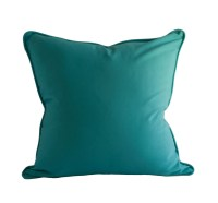 OUTDOOR PILLOW COVER Teal Pillow Cover Solid Color Pillow