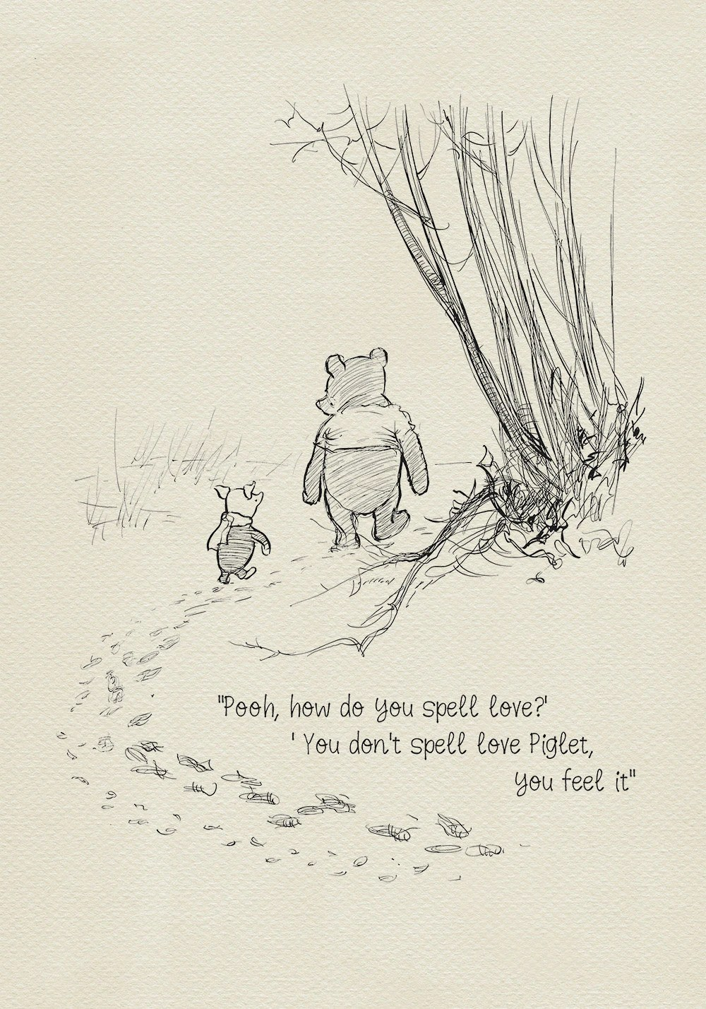 Winnie The Pooh Fall Wallpaper Pooh How Do You Spell Love Winnie The Pooh Quotes