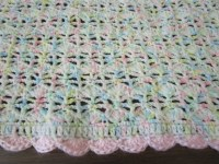 Easy Crochet Blanket Pattern, Blooming Shell Stitch