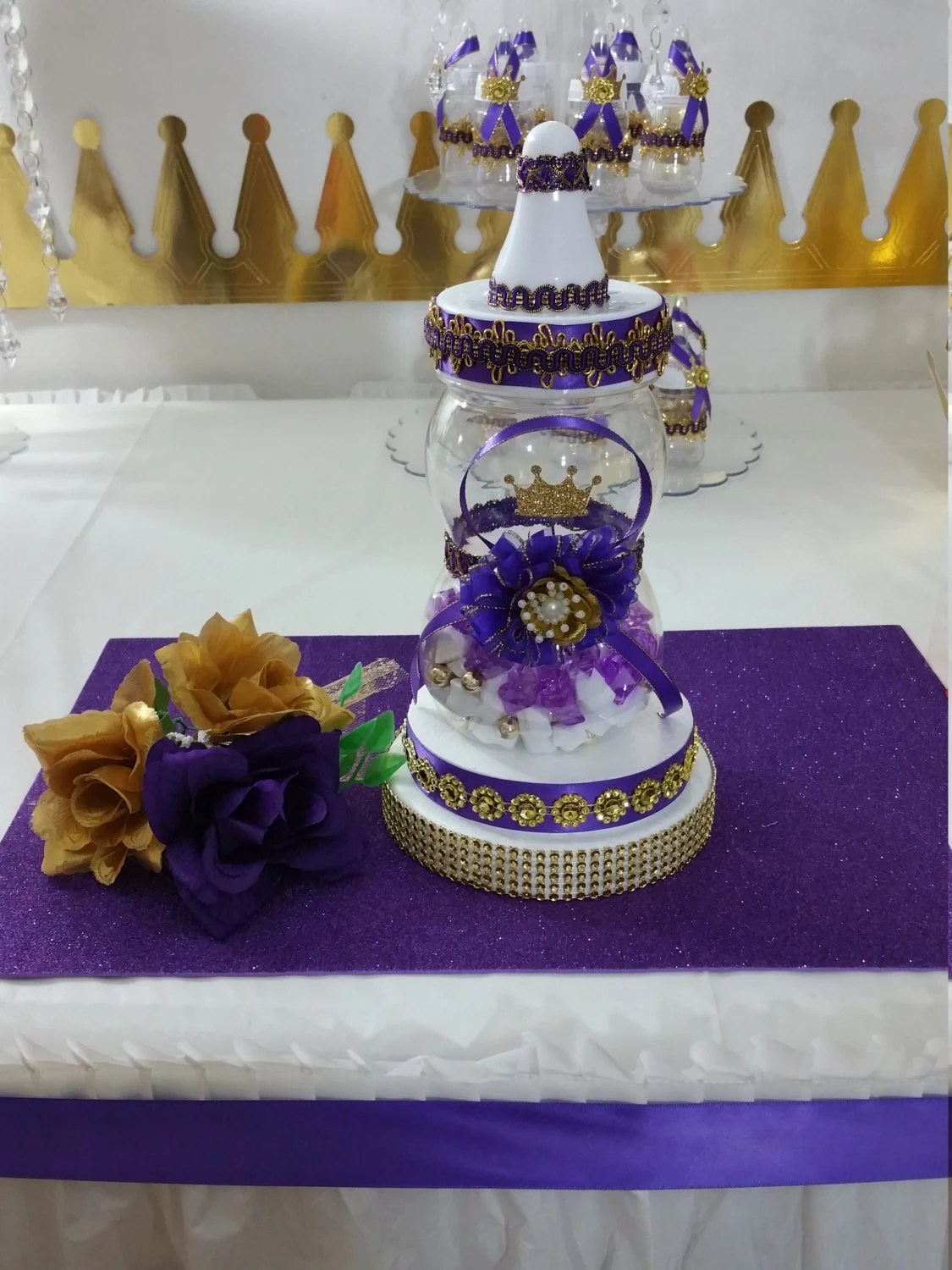 Baby Shower Centerpiece For Royal Purple Baby Shower  Royal