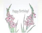 Happy Birthday floral car...
