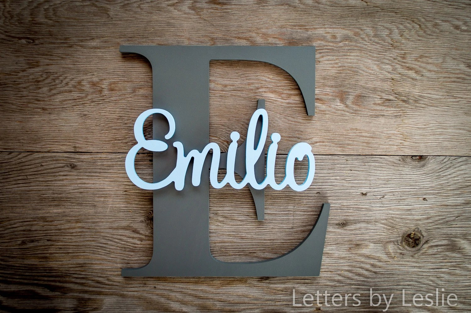 Large Nursery Decor Wood Letters Custom Made Wall Hanging